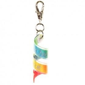 Mini gradation ribbon key ring