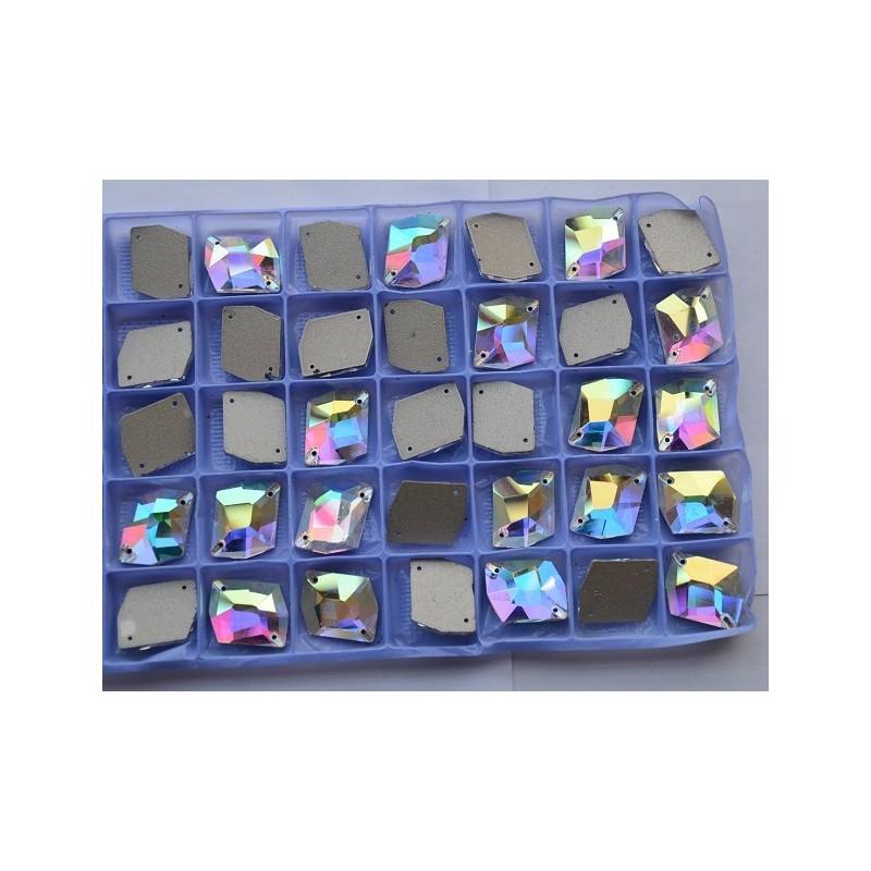 Strass Rombo Crystal AB 8x10MM (10 pz)