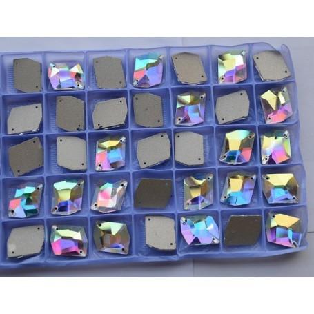 Rhinestone Diamond Crystal AB 8x10MM (10 pcs)