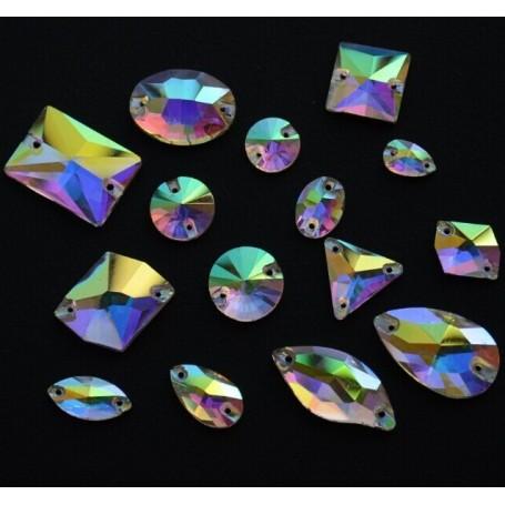 Strass Tondo Crystal AB 10MM (10 pz)