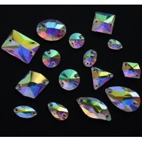 Rhinestone Round Crystal AB 14MM (10 pcs)