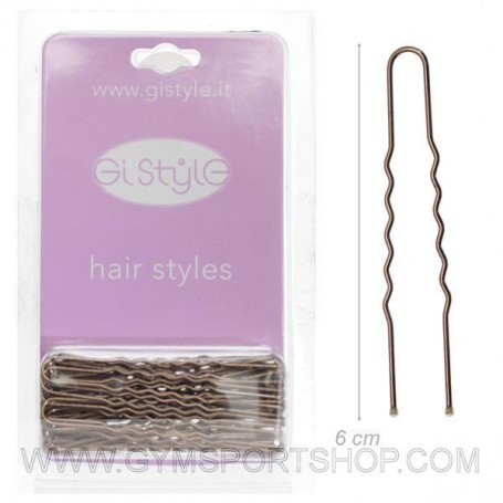 Hairpin Brown 6 Cm 24 pcs.