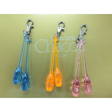 Mini transparent clubs key ring