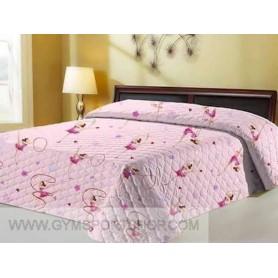 Bedspread two squares gymnasts motif