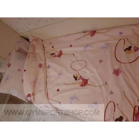 Sheets with gymnasts motif