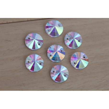 Rhinestones Round Crystal AB 10MM (10 pz)