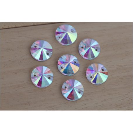 Strass Tondo Crystal AB 10MM (10 pz)