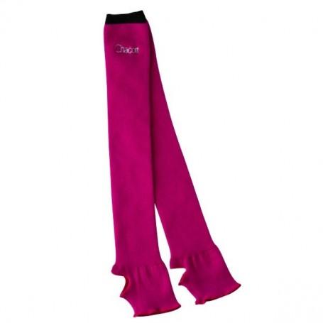 Colored Edge Leg Covers Raspberry-Black