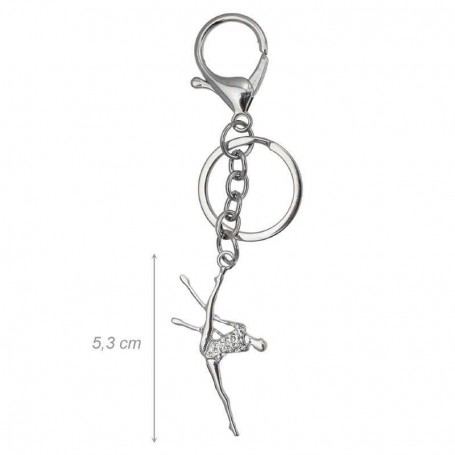 Keyring with Gymnast - Clubs