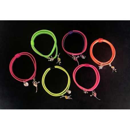 Bracciale elastico colori fluo - Ritmica