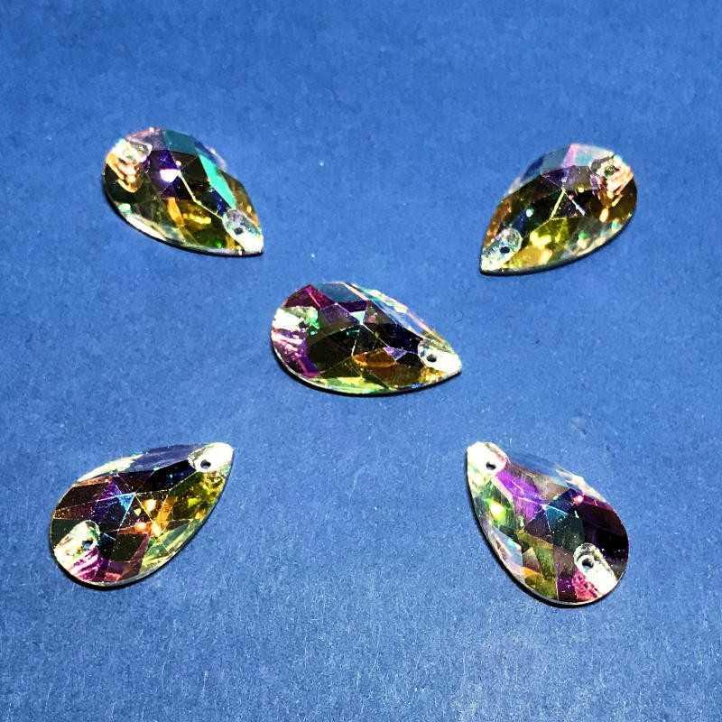 Strass a Goccia Crystal AB 13x22MM (10 pz)